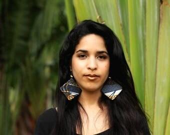 Nairobi Earrings - African Fabric