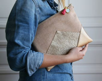 Pocket * HANNAH * gold and beige