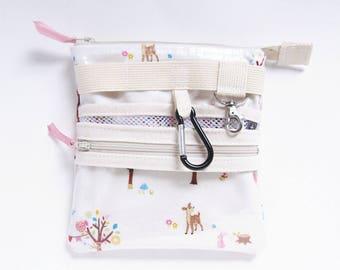 Bambi, Mesh pocket, Zipper clear pocket Laminated nurse tool belt, Vet tech bag, Nurse bag, Nurse gift, Nursing student, veterinarian bag