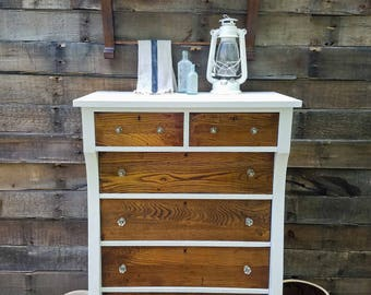 Antique Empire Chest of Drawers Dresser ~ Rustic Farmhouse Cottage Chic Decor