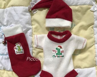 "8-9"" My First Xmas onesies"