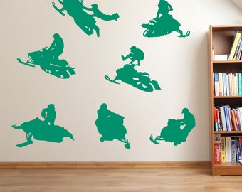 Skadoo Snowmobile Wall Stickers A60
