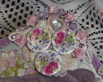 Decorative  Flower Buttons, Flower Buttons, Buttons for crafting & Sewing