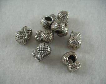 Metal bead, 8 pieces  (918)
