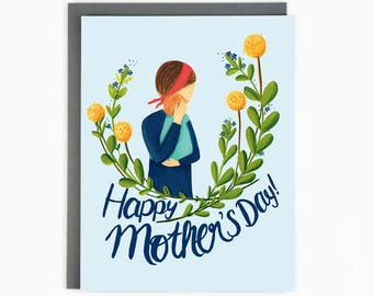 Happy Mother's Day - New Mom - New Baby - Mother's Day greeting card / MOM-NEW-BABY