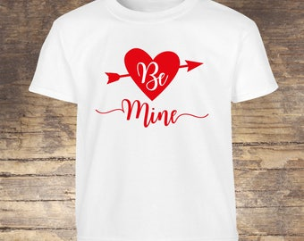 Valentine's Day Shirt Be Mine tshirt toddler kids boy girls shirts onesies