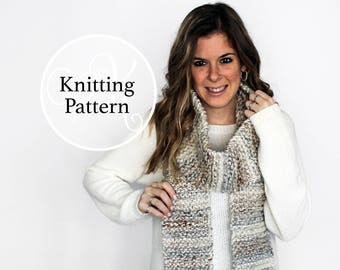 Knitting Pattern Easton Scarf Instant Download