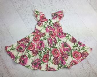 Sweet Orchid Bloom Twirl/Circle Dress