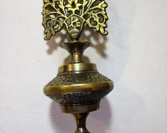 Antique Brass Kohl Container from Pakistan
