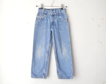 Levi's 550 high waist washed denim for kids // 7