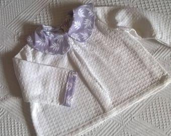 newborn purple collar blouse top