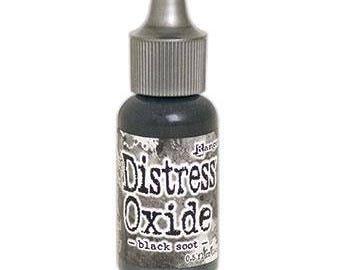 Tim Holtz Distress Oxide Reinker in BLACK SOOT .5 oz dropper bottle TXR40798 - cc52 IN001
