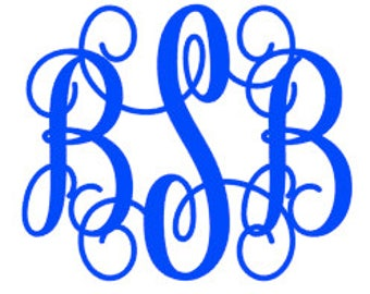 1 Dollar Sale! - 4x4 Monogram Decal- Option #1 Script