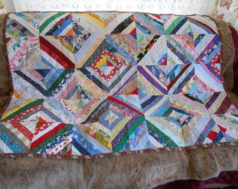 "Small Patchwork Quilt -  52"" x 38"""