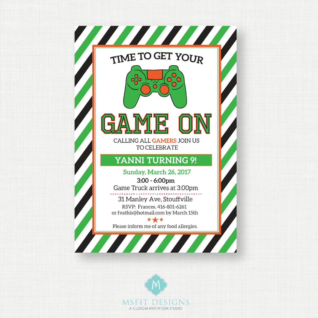 Video Game Birthday Party Invitations - Video Game Invitations ...