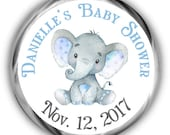 Elephant  Baby Shower Hershey Kisses Stickers | Personalized Baby Shower Sticker | Boy Kiss Favors