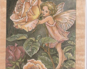 Cecily Mary Barker Rose Flower Fairy Rubber Mounted Stamp 90030 Unused