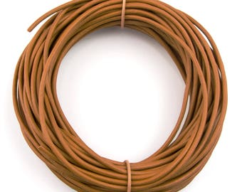 Mustard Natural Dye Round Leather Cord 1.5mm 25 meters (27.34 yards)
