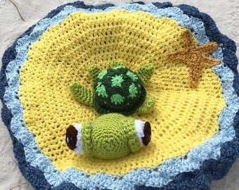 Sea Turtle Lovey/Security Blanket (Crocheted)