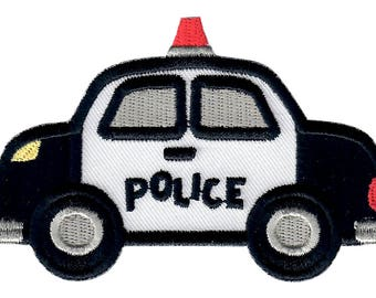 Police Car Iron-On Patch Applique - Kids / Baby