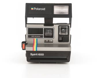 Polaroid Spirit 600 LM Program - film Tested and Working Polaroid 600 - uses Polaroid Originals 600 Instant Film SILVER with rainbow stripe
