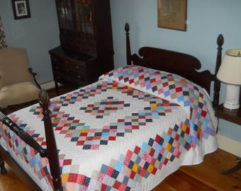 Nice!   Large Size.   Hand Quilted, Boston Commons Quilt.   From Indiana.   Never Used.