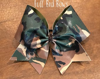 Cheer Bow - Camouflage