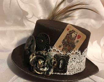 Steampunk Mini Top Hat - Custom