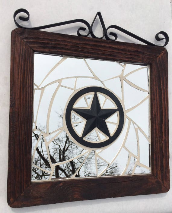 Miroir mural rustique mosa¯que miroir miroir mural bois