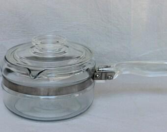 Vintage 1 Quart Pyrex 6212 B Sauce Pan With Lid