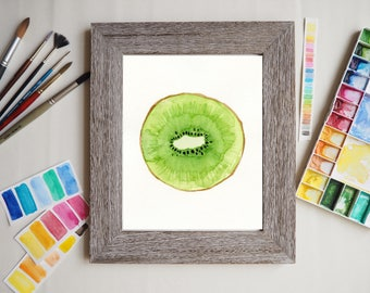 Watercolor Art print - Christmas gift - Fruit Wall art - Housewarming Hostess gift - Kiwi art - Home decor - Gift for Mom - Birthday present
