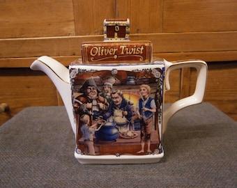 Sadler Teapot - Classic Stories Series - Oliver Twist - Vintage