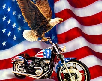 "Liberty Ride 36""X44"" Panel DP21310-44 USA Quilts of Valor Cotton Fabric! [Choose Your Cut Size]"