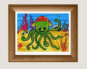 The Beatles - Octopus' Garden Art Print Wall Art - Song Lyrics