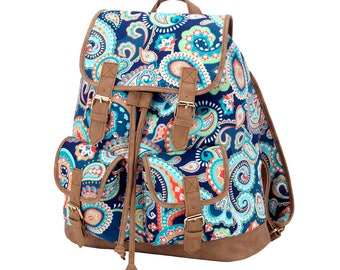 """Monogrammed """"Emerson Paisley"""" Backpack"""