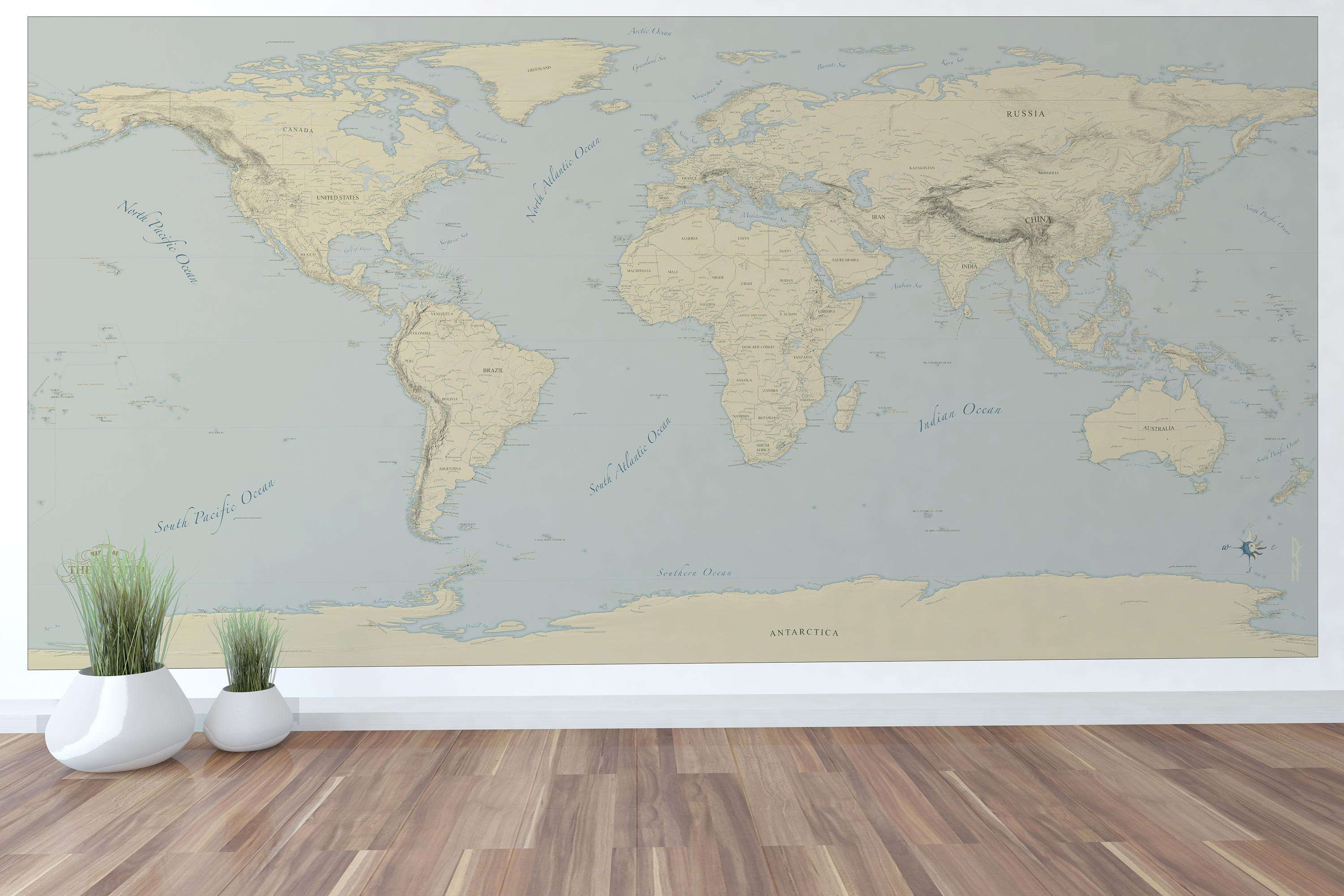 Giant world map mural stylish and educational world map wall zoom sciox Gallery