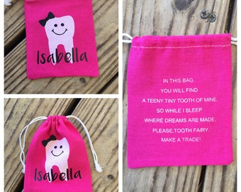 Personalized Tooth Fairy Bag Pouch