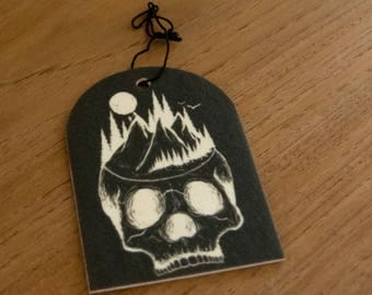 Growing Skull Pine Air Freshener