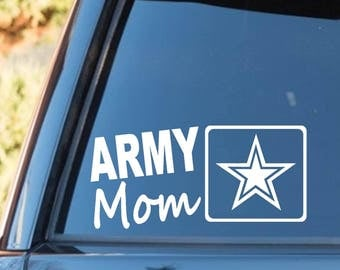 L1042 Army Mom Decal Sticker Armed Forces Military Veteran American USA Respect