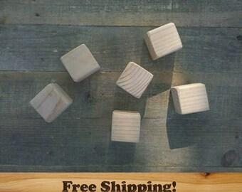 2 inch Wood Blocks, Fir, Natural Baby blocks, Baby Shower Activity, Handmade unfinished wood blocks, Wooden Blocks, craft blocks