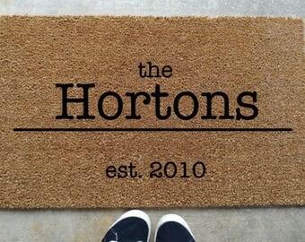 custom welcome mat