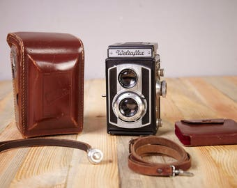 TLR Film Camera Weltaflex. 120mm film Camera.With Original Case. Film Camera.
