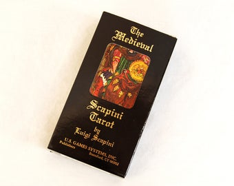 Vintage 1985 Scapini Medieval Tarot Card Deck with Instructions 78 cards