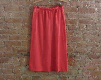 December Sale vintage red pencil skirt