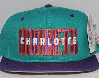 Vintage Deadstock Charlotte Hornets NBA Snapback Hat