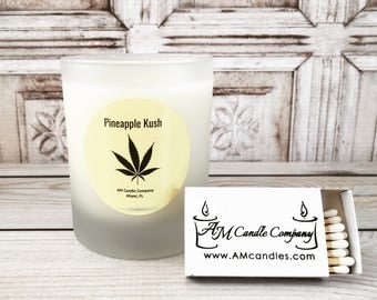 Pineapple Kush -Scented Soy Candle, Cannabis Candles, Kush Candles, Mary Jane, Man Cave Candles, Hash Candles, Marijuana Candles, Hemp Seed