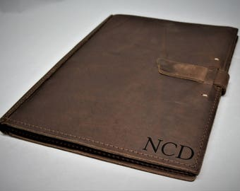 leather pad folio etsy