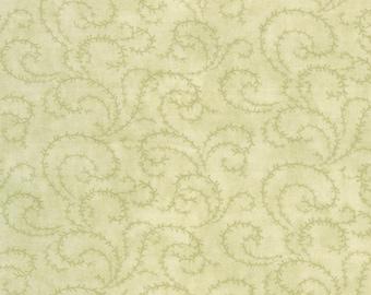 Moda Paris Flea Market Mossy Sage Green Floral Swirl Vine 3 Sister's Shabby Fabric 3732-19 BTY 1 Yd