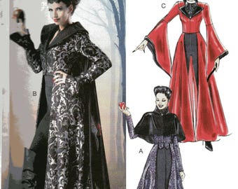 Once Upon A Time's EVIL QUEEN REGINA Costume McCall's Pattern 6818  Misses Sizes 4 6 8 10 12