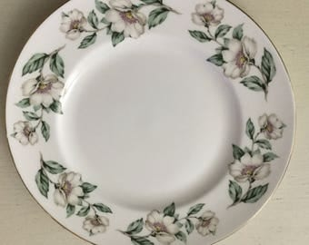 Vintage Crown Staffordshire bone china Pear Blossom salad plate